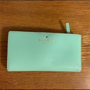 Kate Spade Turquoise Bi-fold Wallet